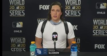 Tyler Glasnow talks about what he can build on after Rays' Game 1 loss Dodgers (VIDEO)